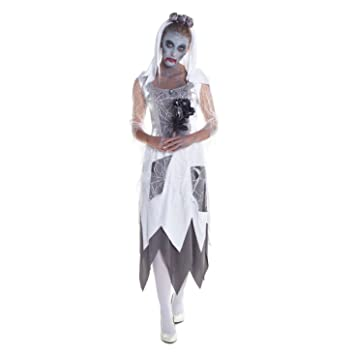 womens bloody zombie halloween fancy dress costume high quality costume bride medium uk