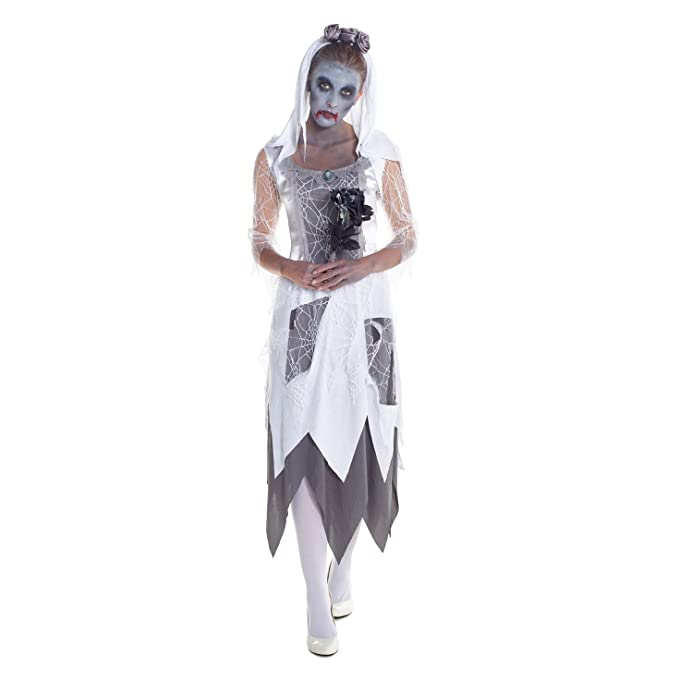 1930s Costumes- Bride of Frankenstein, Betty Boop, Olive Oyl, Bonnie & Clyde Womens Zombie Graveyard Bride Fancy Dress Costume - High Quality Costume $21.49 AT vintagedancer.com