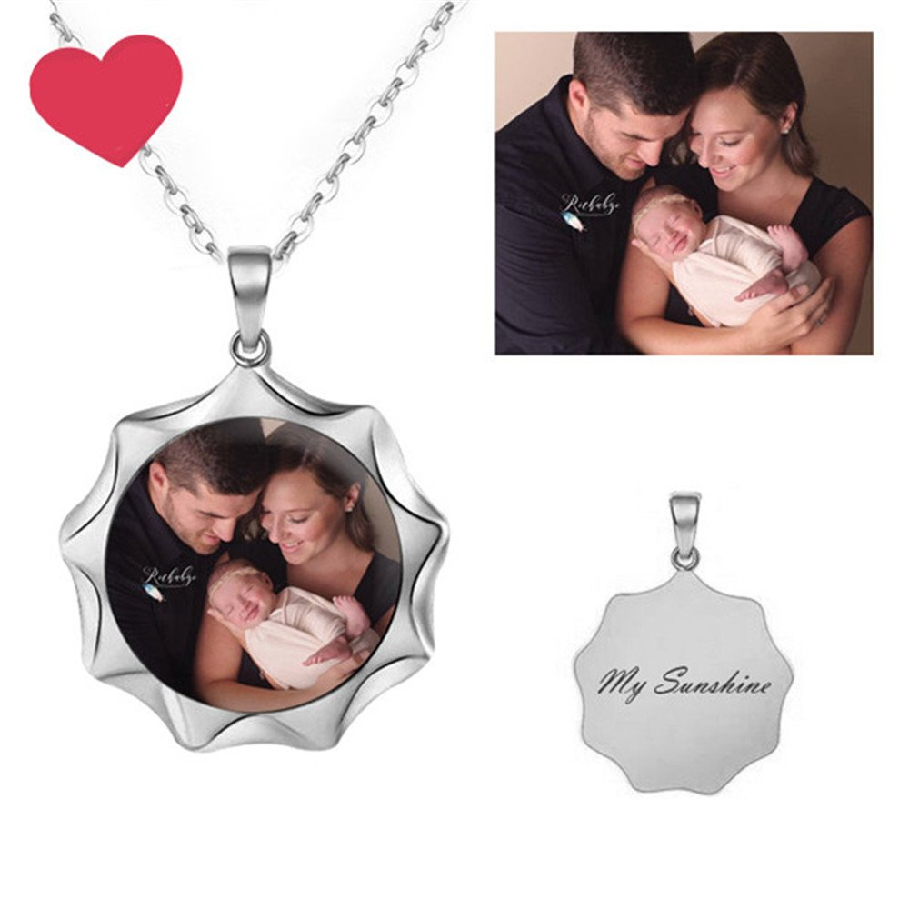 evening mist Handmade Sun Personalized Necklace Customize Photo Necklace For Lover
