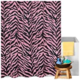 Karin Maki Zebra Shower Curtain, Pink
