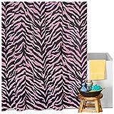 Pink Zebra Print Shower Curtain Karin Maki Zebra Shower Curtain, Pink