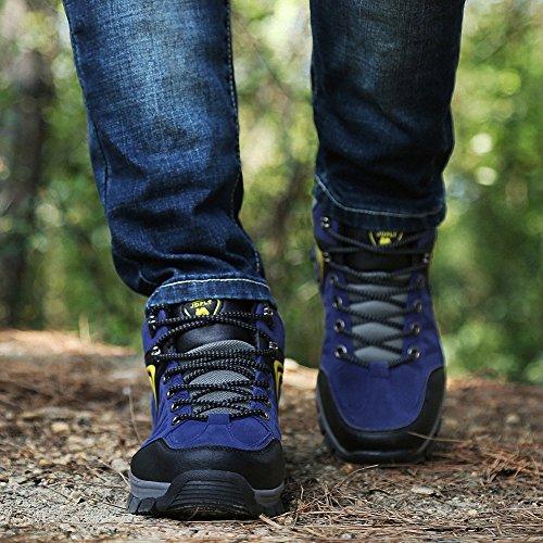 Ben Sports Damen Herren Wanderhalbschuhe Wanderstiefel Traillaufschuhe Walkingschuhe Laufschuhe D-Blau