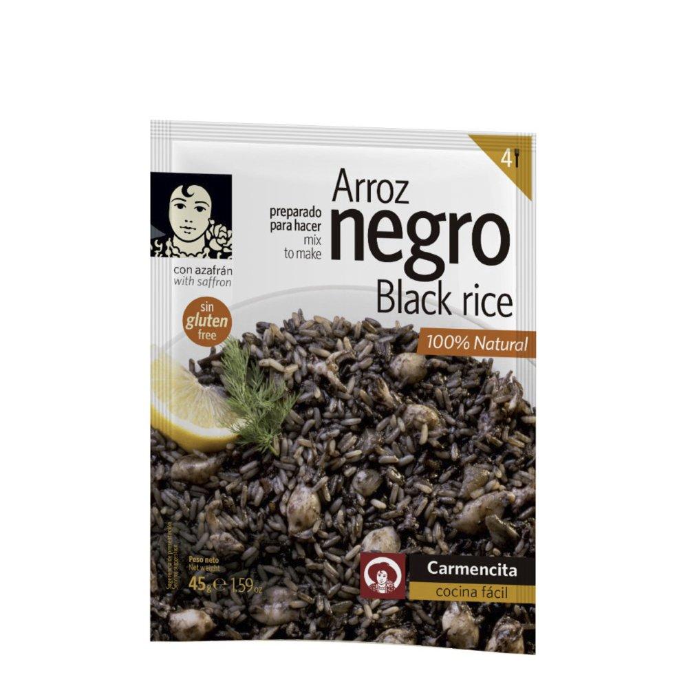 Black Rice Seasoning Mix Spices 4 Servings Carmencita Arroz Negro Spice Mix with Saffron Gluten Free