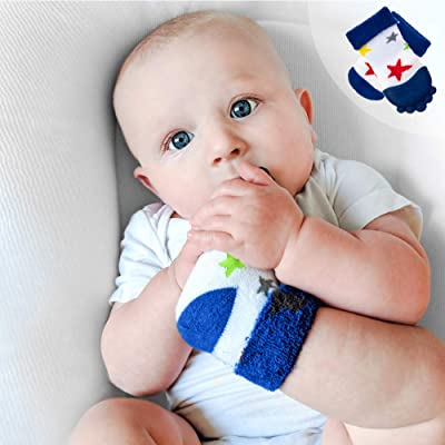 "Nuby Soothing Teether Sock, Blue Stars, 5"" : Baby"