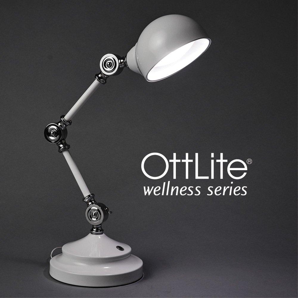 OttLite Revive LED Desk Lamp   Touch-Sensitive Control, 3 Brightness Mode, Adjustable, Reduces Eyestrain   Great for Office, Home, Table, Dorm, Bedroom, College, Nightstand, Living Room (White)