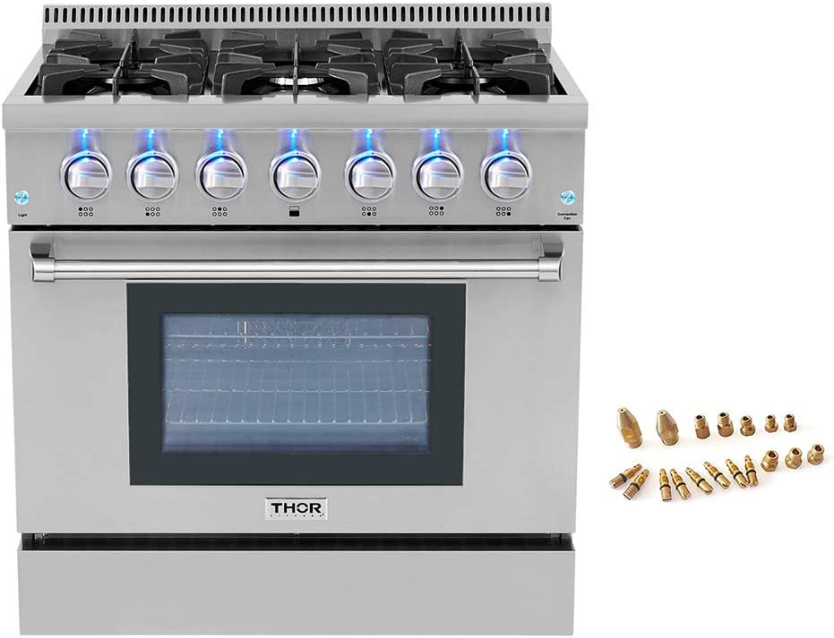 "36"" Pro-style 6 Burner Gas Range + LP Conversion Kit Bundle 611qc4v9PuLSL1000_"