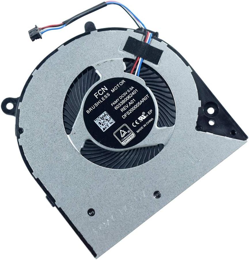 Laptop CPU Cooling Fan Replacement for HP 14-CK0065ST 14-CF 14-CK 14-cm 14-CF0006DX 14-CK0066ST 240 G7 246 G7 Series L23189-001