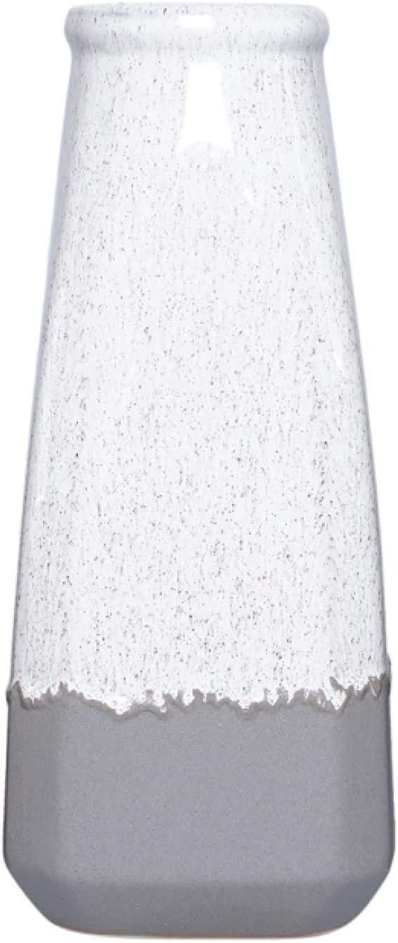 Hosley 10 Inch High Ceramic Vase. Ideal Gift for Wedding Floral Floor Vase Party Home Decor Office Spa W5