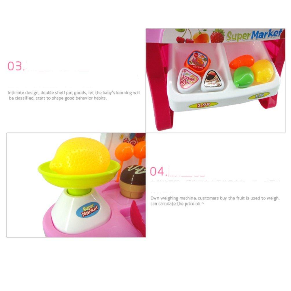 Juguetes, Vovotrade 34pcs Mini Supermercado Caja registradora Carro de la compra Juguetes Set Regalo (B): Amazon.es: Juguetes y juegos
