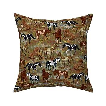 Miraculous Amazon Com Roostery Throw Pillow Horse Pony Landscape Inzonedesignstudio Interior Chair Design Inzonedesignstudiocom