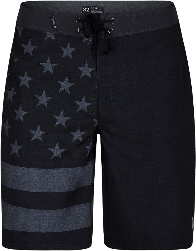 US flag printed swim trunk