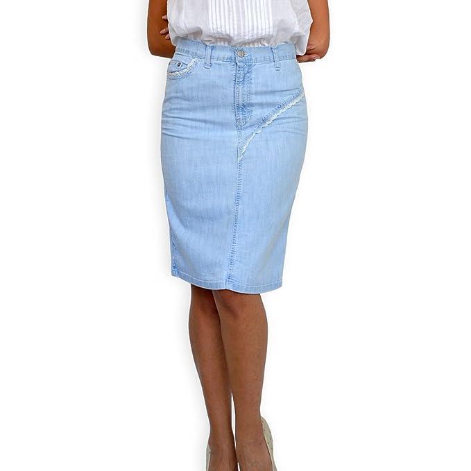 14e8244dab Souvenir-Fashion New Ladies Casual Boutique Knee Length Pencil Light Blue  Denim Skirt UK 8 10 12 14 16 18 20 22: Amazon.co.uk: Clothing