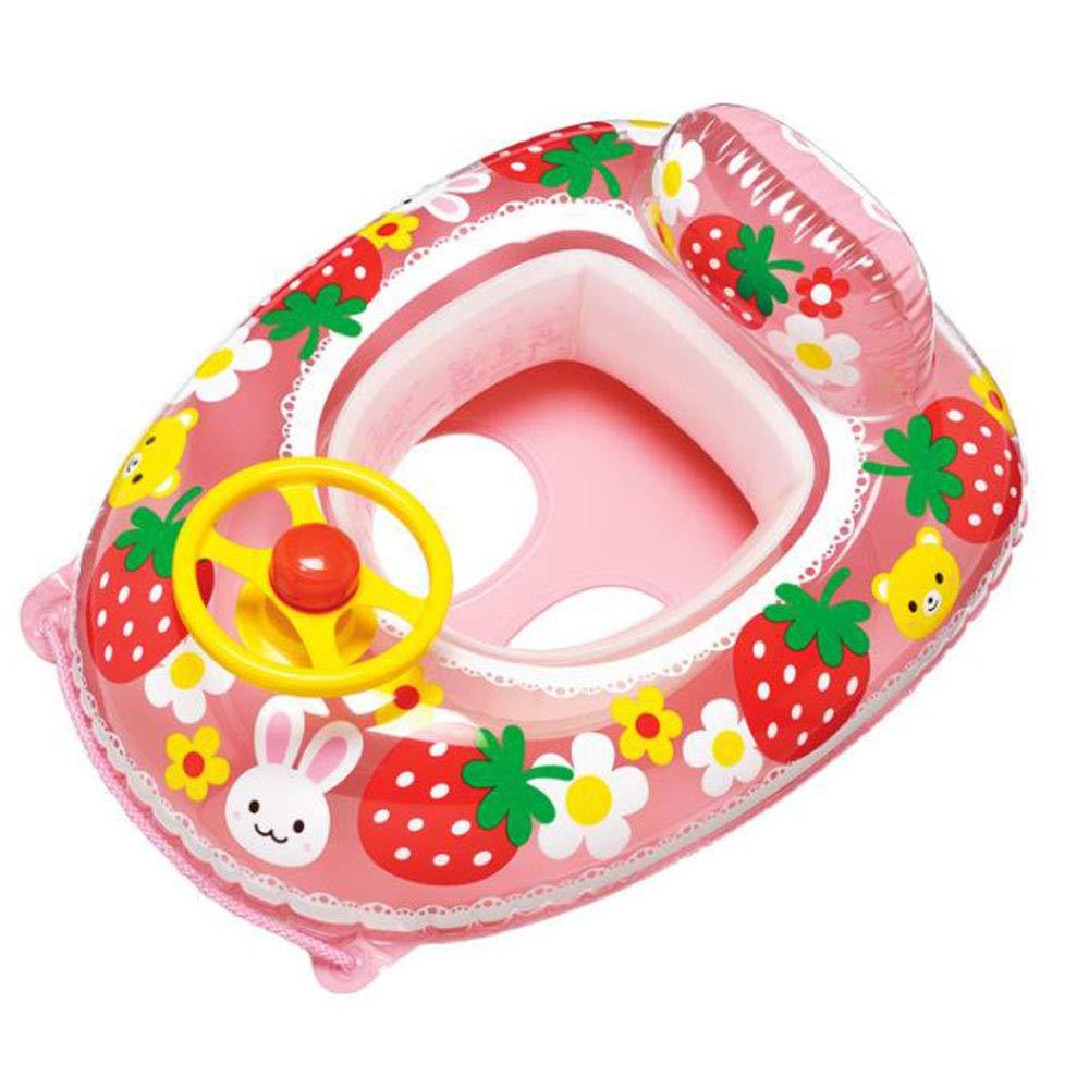Amazon.com: Flotador inflable para piscina de bebé, de fresa ...