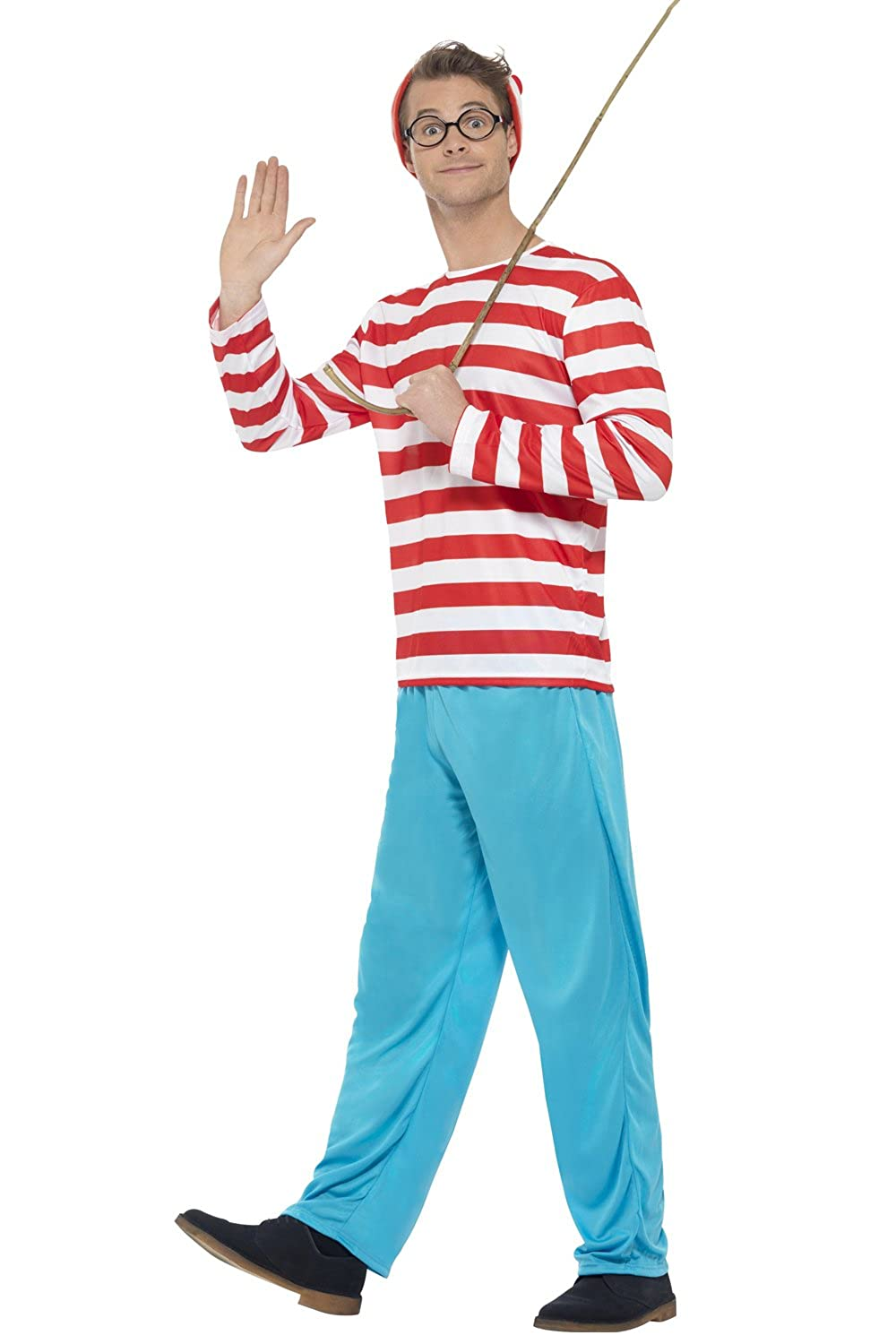 Male Film & TV Licensed Fancy Dress Party Outfit Mens Wheres Wally ...