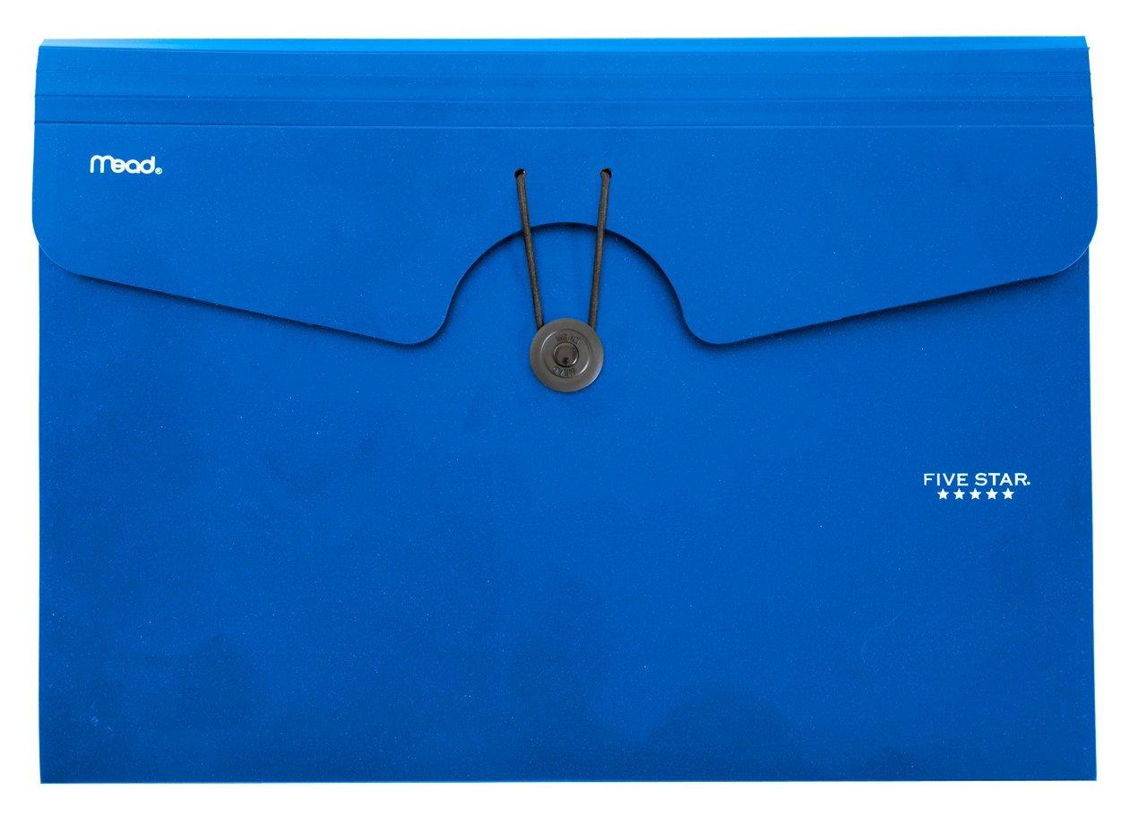 Five Star Expanding File Folder, 6-Pocket Expandable File Folder, Blue (72393)