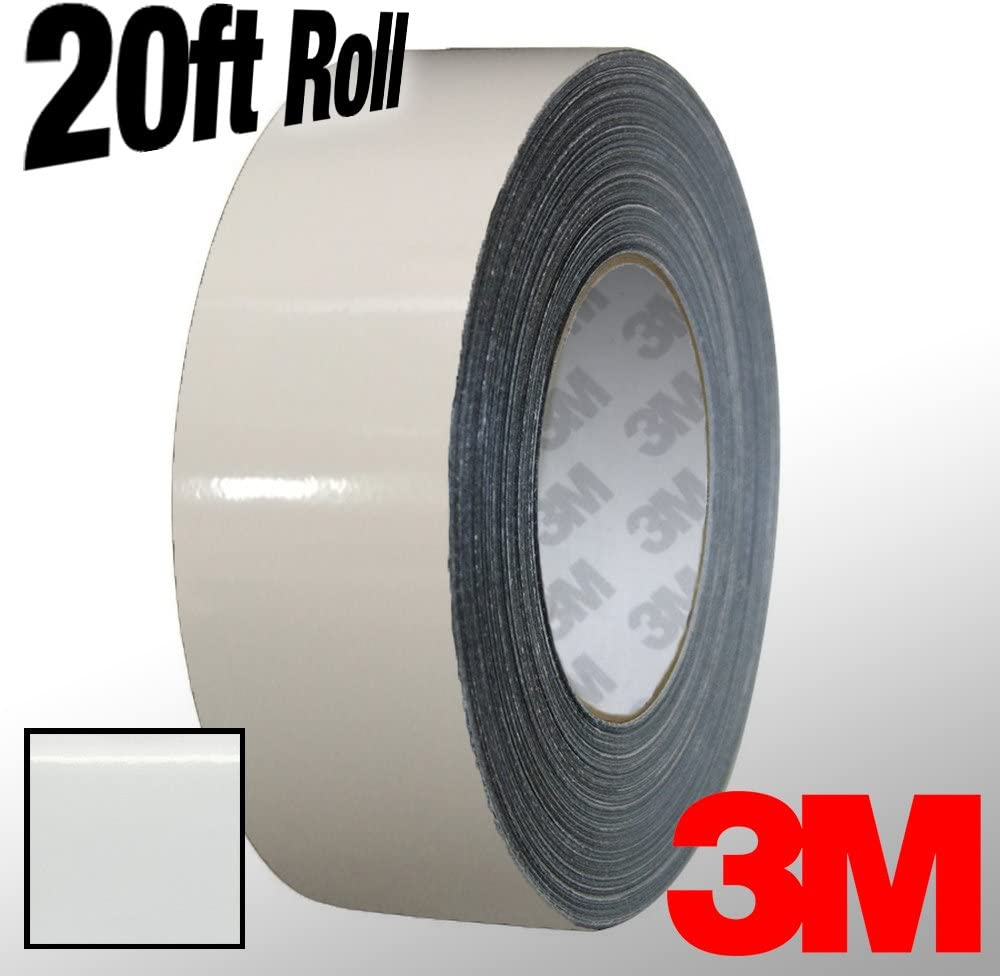 1//4 Inch x 20ft VViViD 3M 1080 White Gloss Vinyl Detailing Wrap Pinstriping Tape 20ft Roll