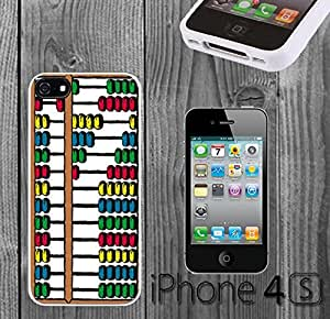 Color Abacus Custom made Case/Cover/skin FOR iPhone 4/4s - White - Rubber Case ( Ship From CA) by runtopwell