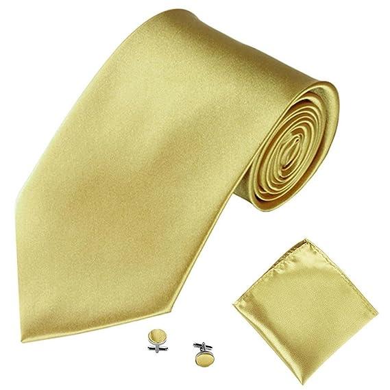corbata niño,Gusspower Hombres 6 en 1 Consejo corbata elegante del clip de la mancuerna pañuelo y pañuelo conjunto de Paisley Multicolor