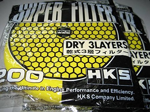 Hks Super Mega Flow Replacement Elements Air Intake Filter 3 Layers Green