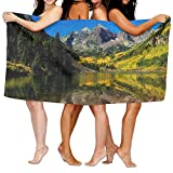Colorado Rocky Mountains Lake Quick-Dry Bath Towel Beach Towel Microfiber 80x130cm For Swim Beach Camping