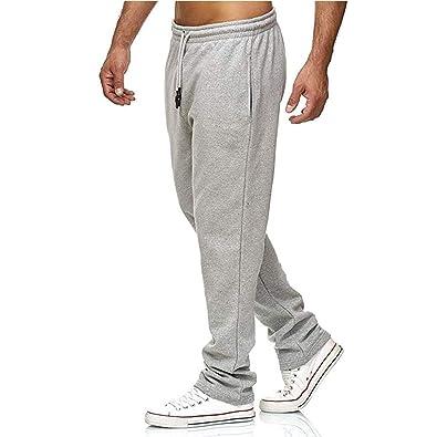 Pantalón para Hombre Casual Jogging Pantalones De Chándal Sueltos ...