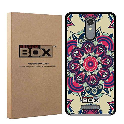 BLU VIVO 5R Refresh Case , ABLOOMBOX(TM) Flexible Slim Soft Silicone TPU Rubber Gel Skin Protective Case Cover [Black] Retail Package for BLU VIVO 5R Refresh 4G LTE Smartphone [Mandala] -  ABOX-TA25-42