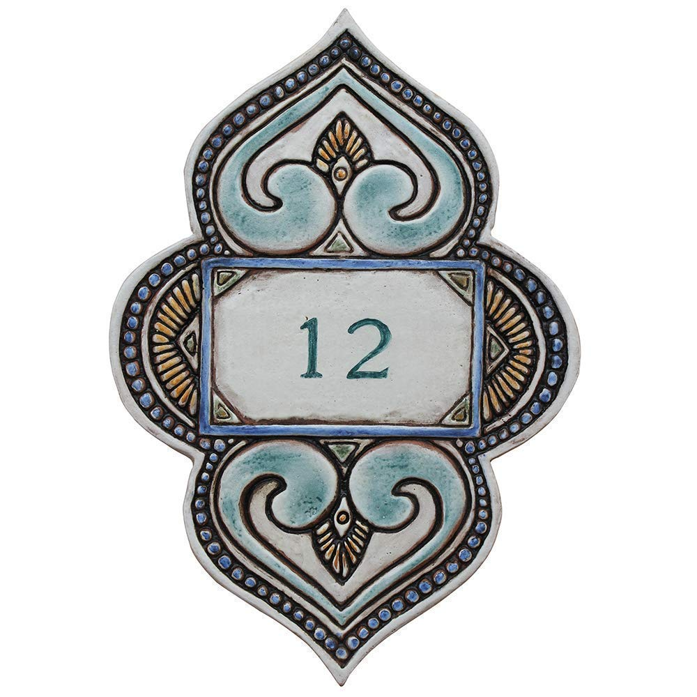 House Numbers Tile Ceramic House Numbers Custom Address Sign Address Plaque