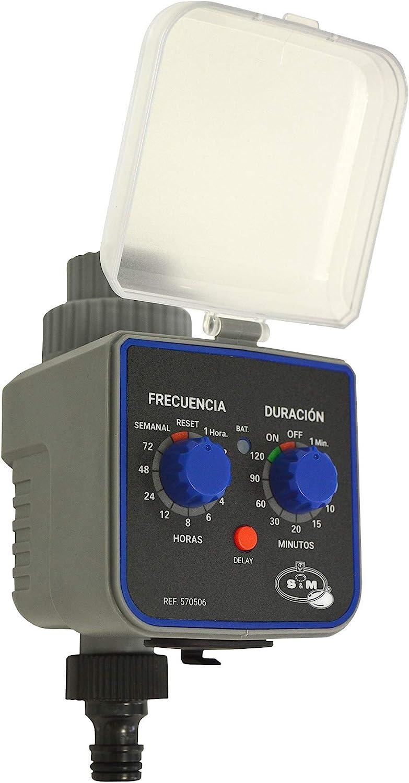 S&M 590054 590054-Programador de Grifo de 1 Salida para riego automático H-M 3/4