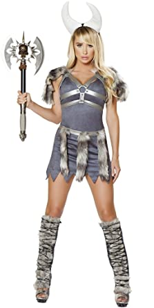 Sexy Comic Book Viking Girl Halloween Costume - Grey - Small  sc 1 st  Amazon.com & Amazon.com: Sexy Comic Book Viking Girl Halloween Costume: Clothing