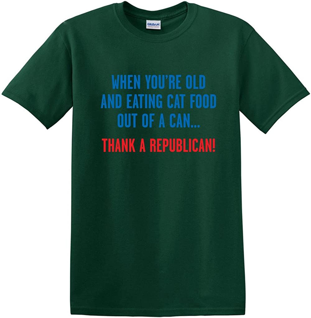 Eating Cat Food Out of A Can Adult Humor Graphic Novelty Sarcastic Funny T Shirt