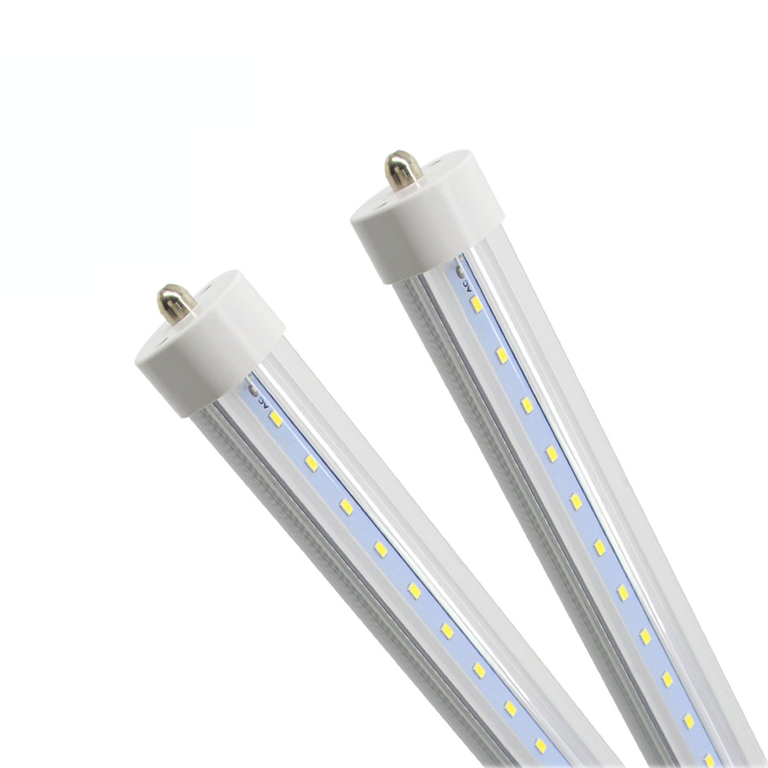 (Pack of 2) Cnsunway T8 T10 T12 LED Light Tube, 8ft, 45W (100W Equivalent), 6000K, 4500 Lumens, Clean Cover, Dual-Ended Power, Fluorescent Light Bulbs Replacement