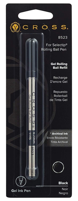 Cross Refill for Selectip Gel Roller Ball Pen, Black, 1 per Card (8523) (Fоur Расk, Black) by Cross (Image #6)