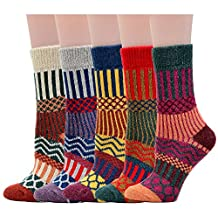American Trends Women's Soft Comfortable Warm Thick Winter Crew Socks