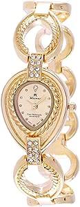 Moonax Gold Quartz Women's Casual Watch Stainless Steel Strap - 9-3761 AL21