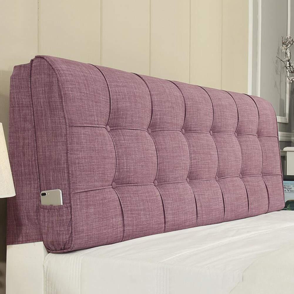 LIANGLIANG クッションベッドの背もたれベッドの背もたれのクッションは、枕を洗える布を読んで、5色、9サイズ (色 : Purple, サイズ さいず : 150X58X10cm) 150X58X10cm Purple B07KN6VDQH