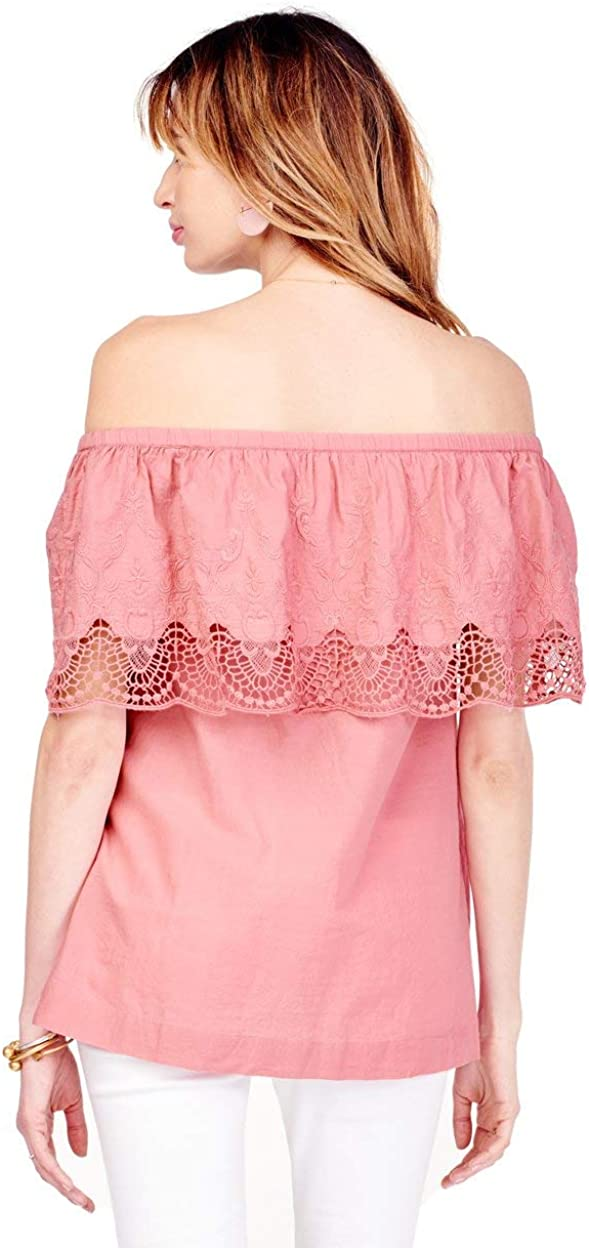 Ingrid /& Isabel Womens Off The Shoulder Lace Maternity Top