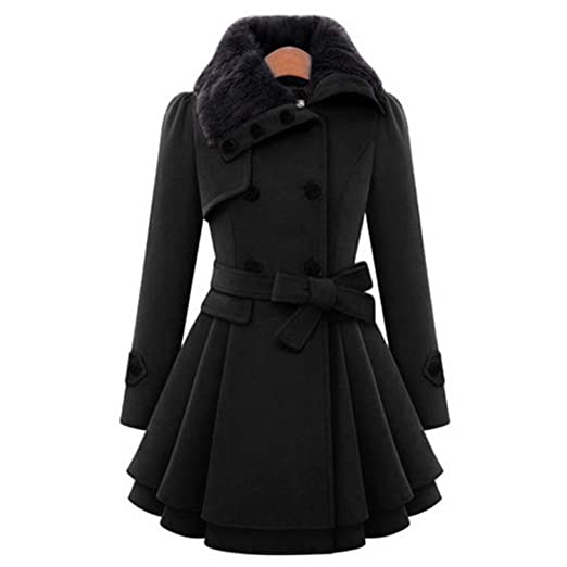 Amazon.com: Cheerful shopping Modern Style 2019 Wool & Blends Coats Female Jacket Windbreaker Plus Size Abrigos Mujer Invierno New: Clothing