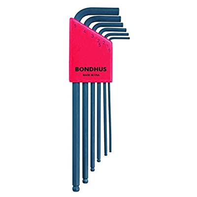 Bondhus 10946 Set of 6 Balldriver L-wrenches, sizes 1.5-5mm - Hex Keys - .com