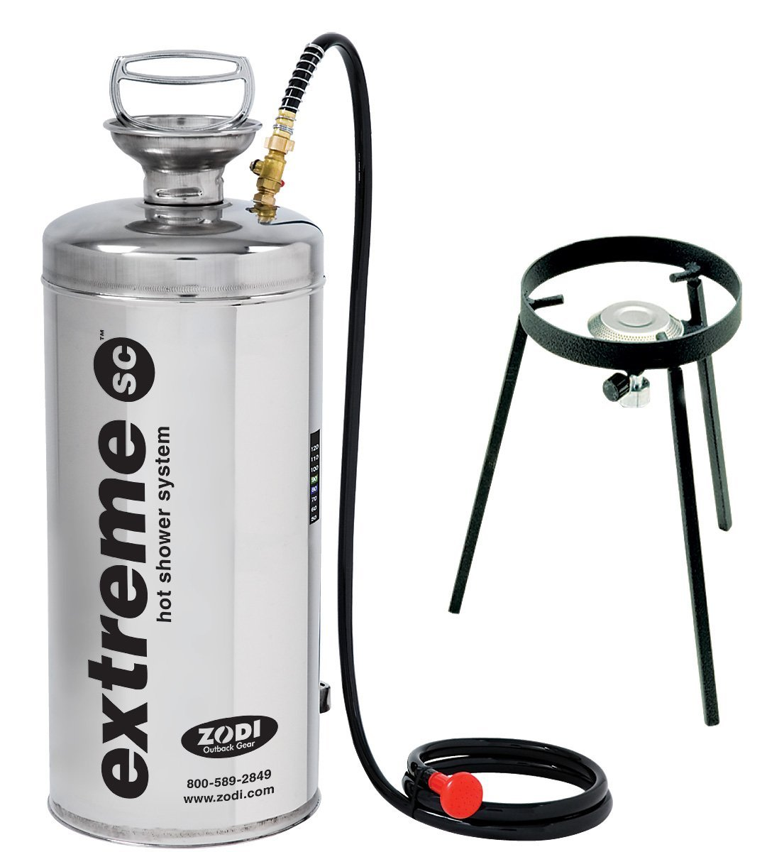 Zodi Outback Gear Extreme SC Hot Shower, Silver 8170