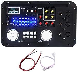 Davitu Module Board Amplifier Board - DSP Bluetooth MP3 Decoder Board Karaoke Preamp Mixer EQ Lossless Fiber Coaxial Equalizer for Amplifier Audio Home Theater