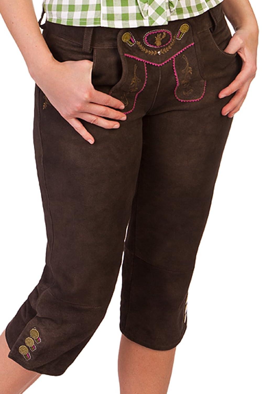 Trachten Damen Kniebundlederhose - MARTINA - braun antik
