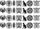 The Ancients 1-1/8'' - Black 17CC829 Fused Glass Decals