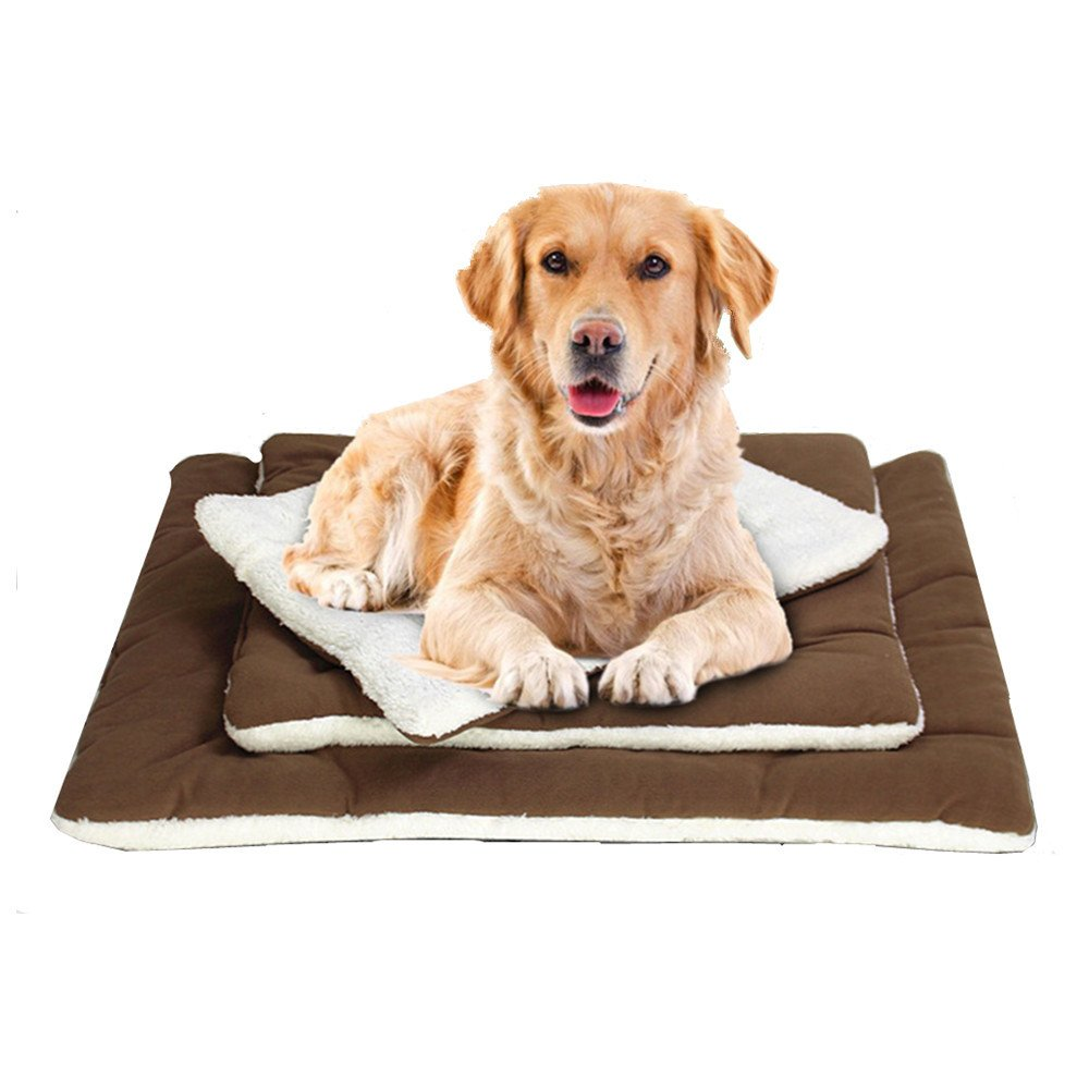 Pet Kennel Mat, Reusable Dog Cushion Dog Cooling Pad for Summer Durable Cat Crate Pad by FMJI (Brown)