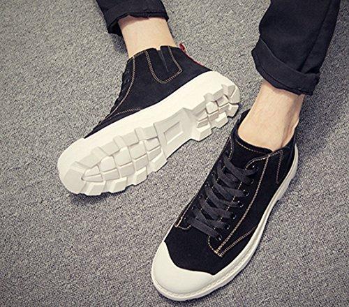 LFEU Homme Chaussure Basket Sneakers Hiver Printemps Suédé Antidérapant Sport en Salle Basket Skate Chaud Tendance 39-44 Noir 4hFhMNnJIB