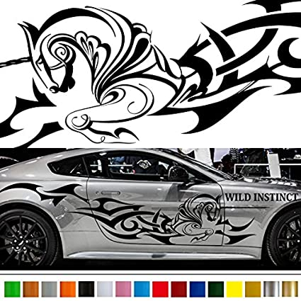 Amazon Com Unicorn Tribal Car Sticker Car Vinyl Side Graphics Wa38