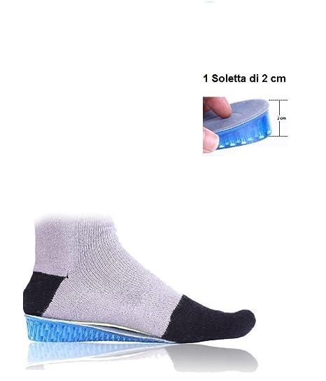 Ducomi® Gelly – Plantillas alzatacco Componibili de silicona ammortizzante recubierto de tela para zapatos de