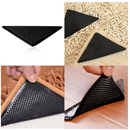4pcs/set reutilizable lavable alfombra alfombra mat pinzas antideslizante agarre de silicona para hogar baño salón cocina...