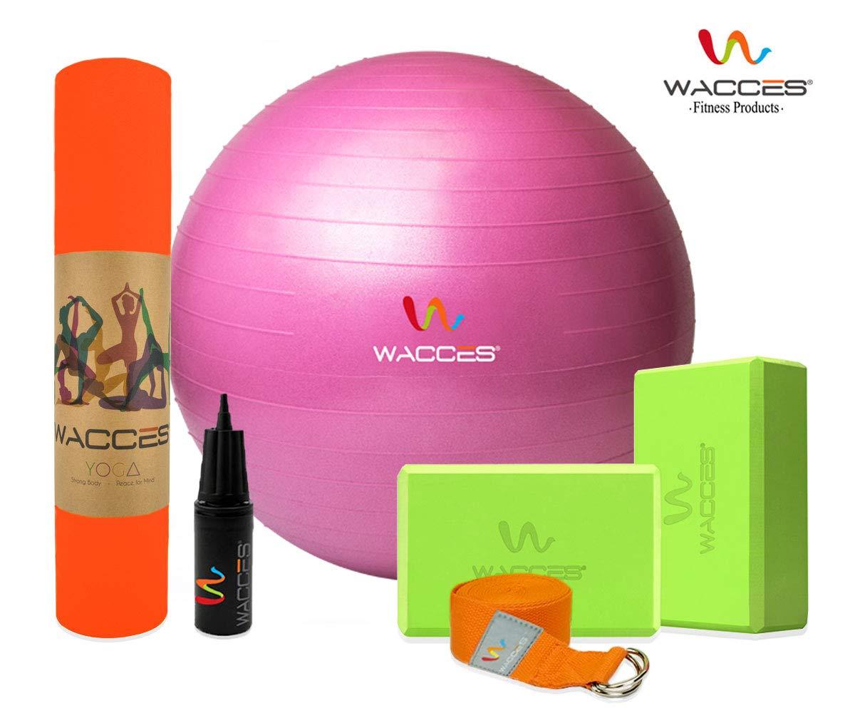 Amazon.com : Wacces Yoga Set Starter Kit 6 Pieces Equipment ...
