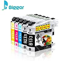 Bigger Compatible Ink Cartridge Replacement for Brother LC133 XL LC133XL LC-133 to use with DCP-J152W J172W J552DW J752DW J470DW J650DW J4710DW J6520DW J6720DW J6920DW (5 Pack)