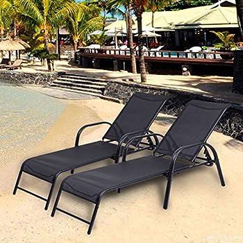 Amazon Com Eliana Outdoor Brown Wicker Chaise Lounge